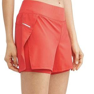 Avia Bright Coral Activewear Running Shorts